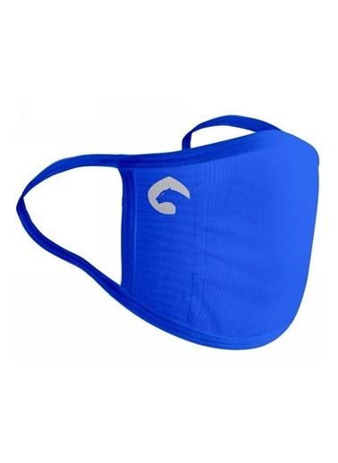 Panthzer  Viraloff Kulaktan Askılıyıkanabilir Dikişsiz Bez Maske Mavi